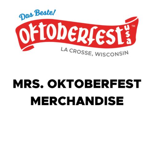 Mrs. Oktoberfest Merchandise